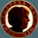 Biểu tượng logo của Theresa May Coin